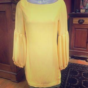 Ellen Tracy yellow dress.  Size 2..